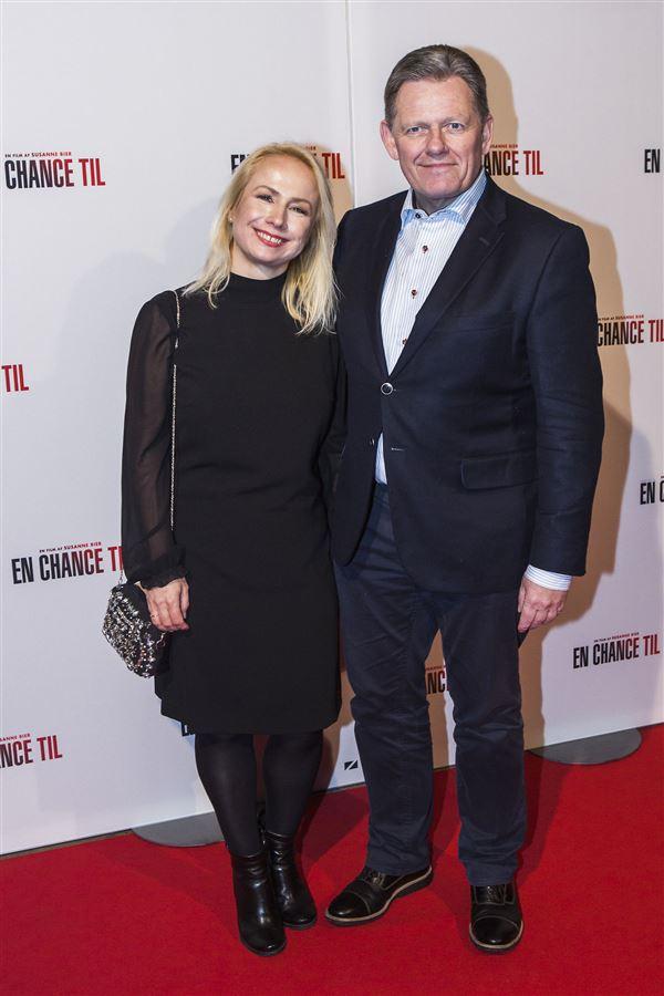 Dan Jørgensen sammen med sin tidligere kæreste skuespilleren Laura Bach.