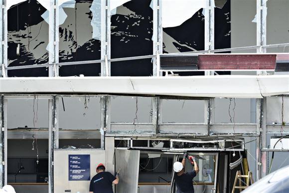 Bomben mod Skat: Kameraer filmede hvid varebil