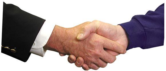 Et håndtryk