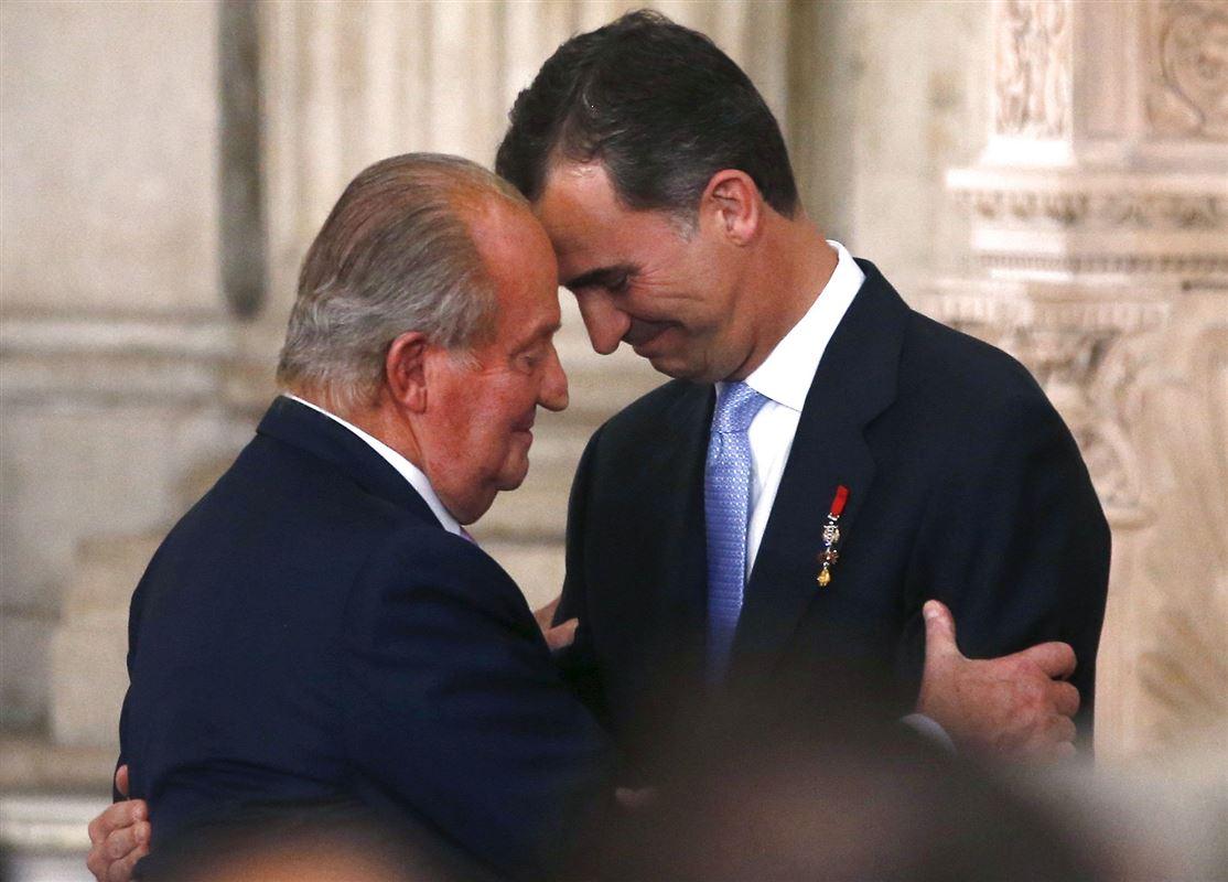 Kong Felipe med sin far, Juan Carlos