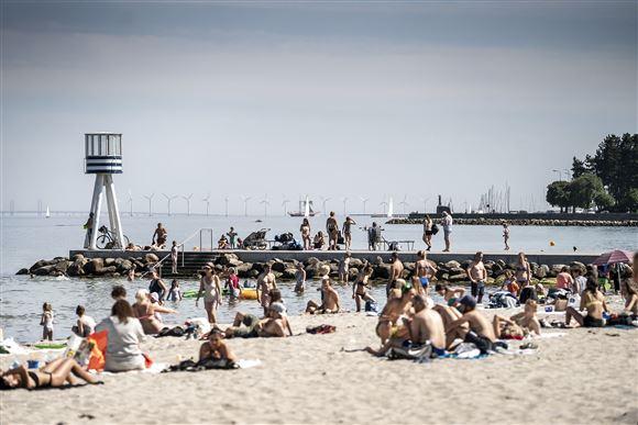 Strand sol sommer