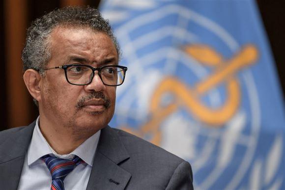Billede af formanden for WHO edros Adhanom Ghebreyesus