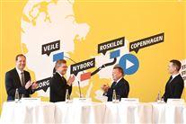 Pressemøde om Tour de France på Københavns Rådhus med overborgmester Frank Jensen og statsminister Lars Løkke Rasmussen
