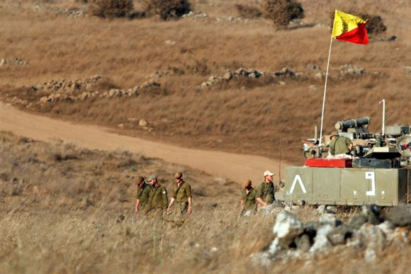 israelske soldater i Golanhøjderne