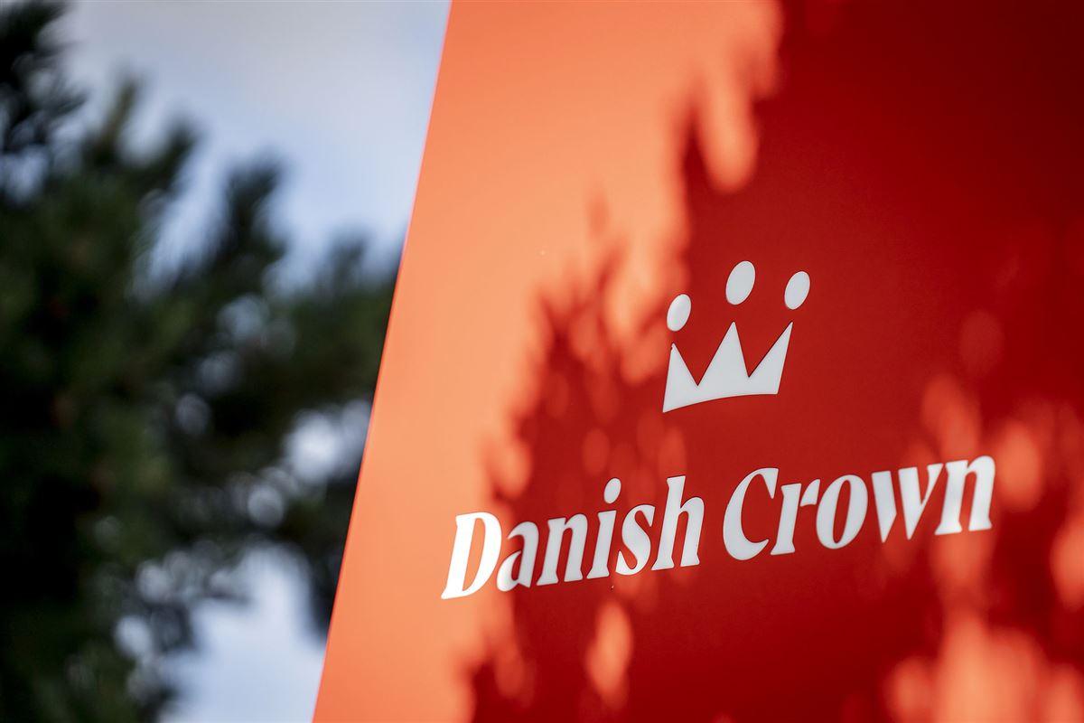 Skilt foran Danish Crown-slagteriet i Ringsted.