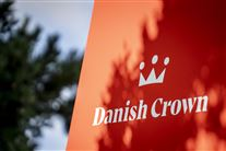 Skilt foran Danish Crown-slagteriet i Ringsted.