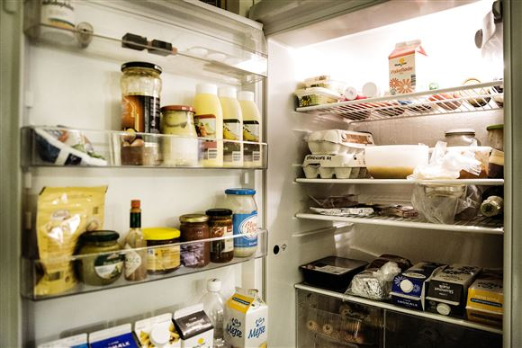 Fyldt køleskab