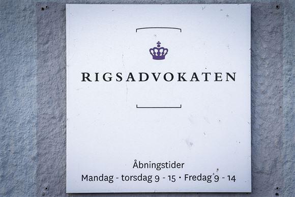 skilt ved rigsadvokatens kontor i københavn