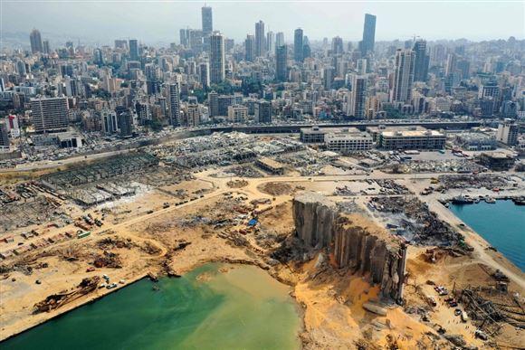 Kæmpe krater i Beirut