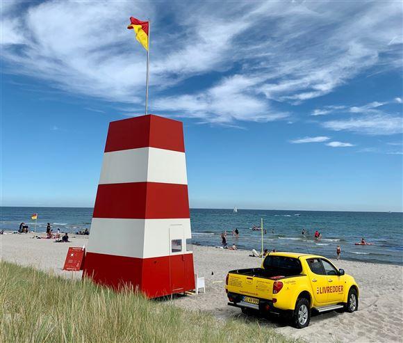 Livreddertårn på Grenå Strand