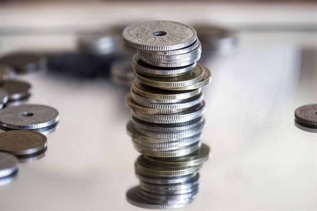 Stabel af mønter
