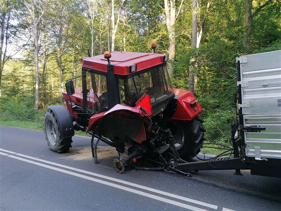 Traktor tabte baghjul
