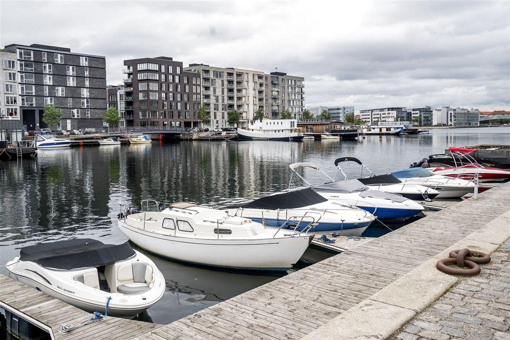 Både i Sluseholmen i København