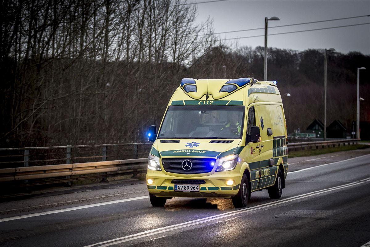 Ambulance på motorvej