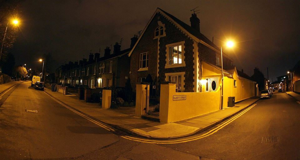 Hus mørke nat uhygge