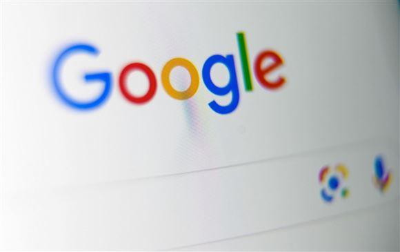 billede af skærm med google-logoet