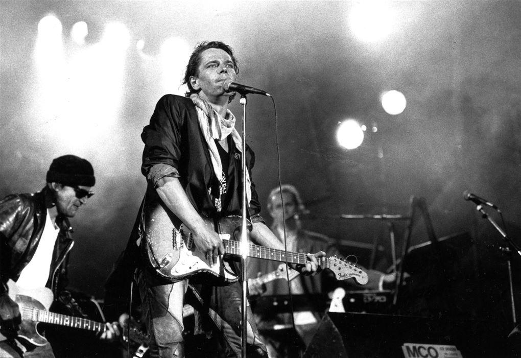 Michael Falch som frontfigur i rockbandet Malurt