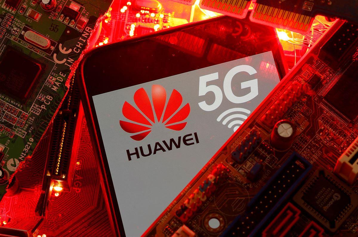 En mobiltelefon fra Huawei med 5G-logoet