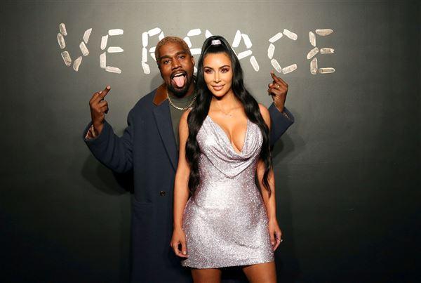 Billede af Kim Kardashian og Kanye West