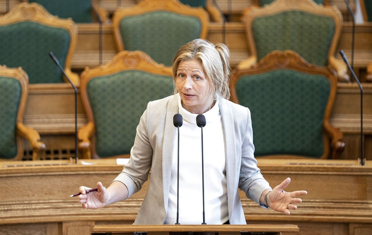 Maria Krarup i folketingssalen