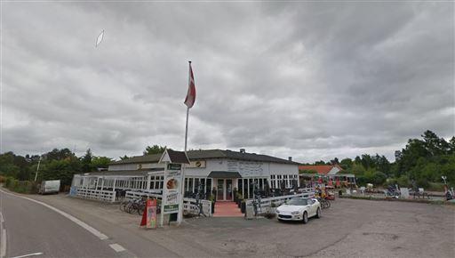 billede af den nedbrændte restaurant får branden