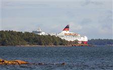 Færge ved ø