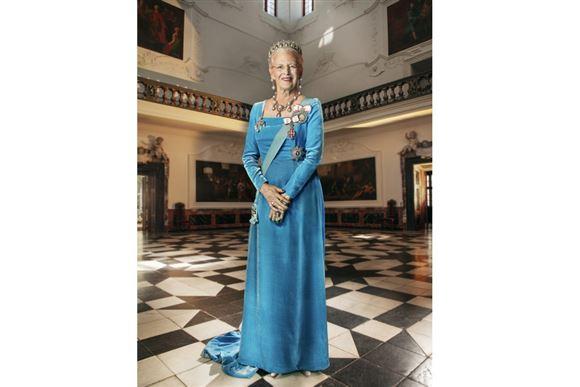 Portrætfoto af dronning Margrethe