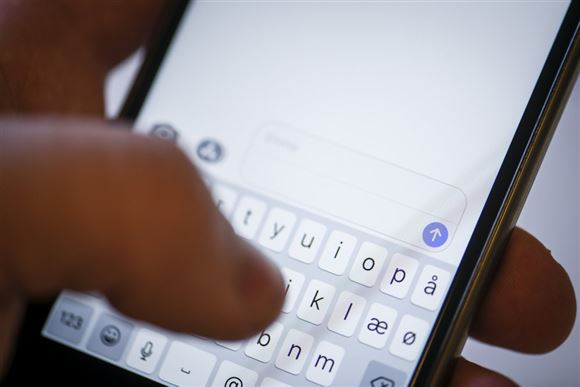 Nærbillede af mobiltelefon
