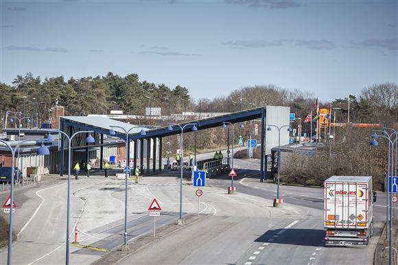 Grænsestation mellem Danmark og Tyskland.
