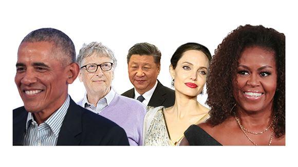 billede af nogle af de meste beundrede personer i verden