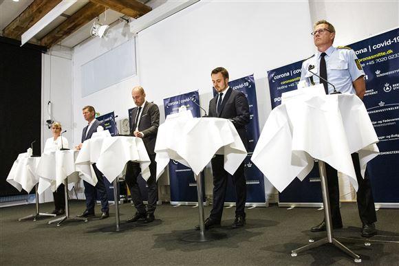 Billede fra et tidligere pressemøde
