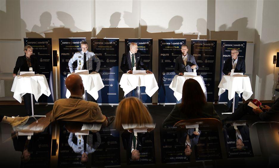 Billede fra dagens pressemøde
