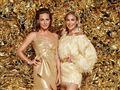 Sarah Grünewald og Christiane Schaumburg-Müller i gyldne kjoler
