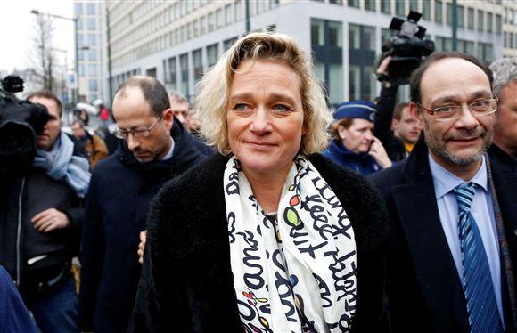 Delphine Boël ankommer til retten