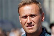 den russiske oppositionspolitiker Aleksej Navalnyj  fotograferet udenfor