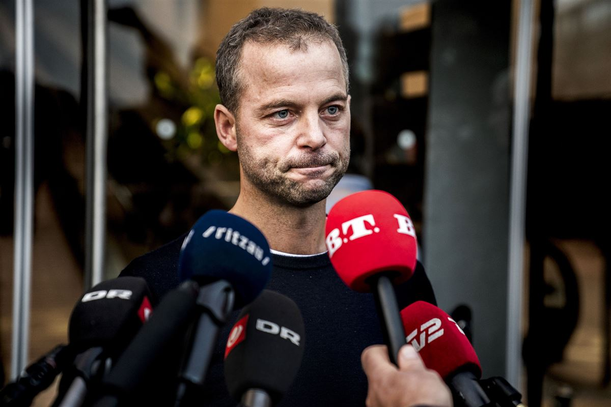 Morten Østergaard på pressemøde