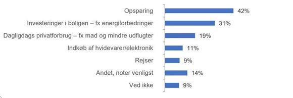 tabel med oversigt over brug af feriepenge