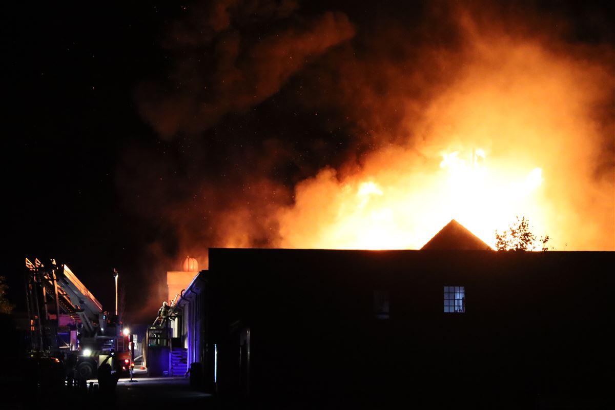 Restaurant i flammer