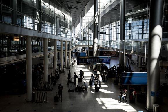 Billede af ankomsthallen i Kastrup
