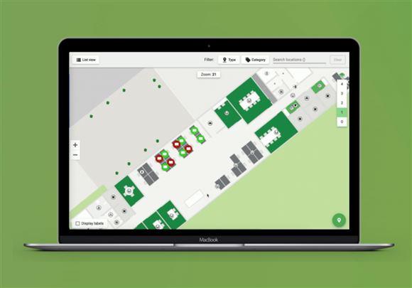 En skærm med navigation