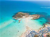 Strand på Cypern set fra luften