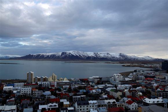 reykjavik set fra luften
