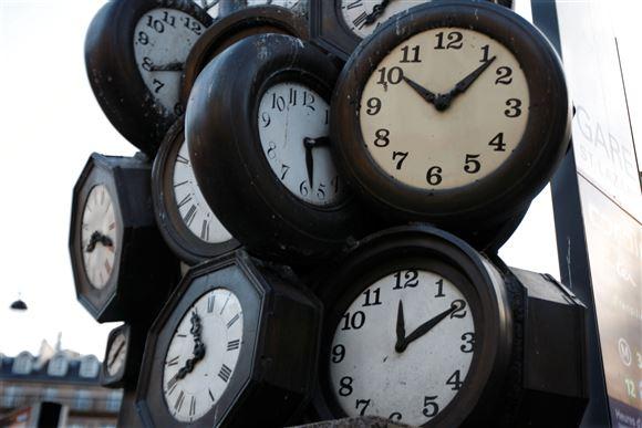 En samling af ure