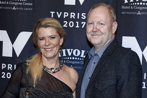 mette reissmann og jan swyrts poserer til tv-prisen 2017
