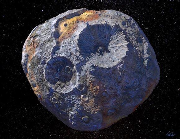 billede af asteroide