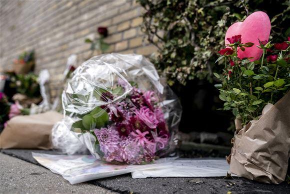 Blomster på ulykkessted