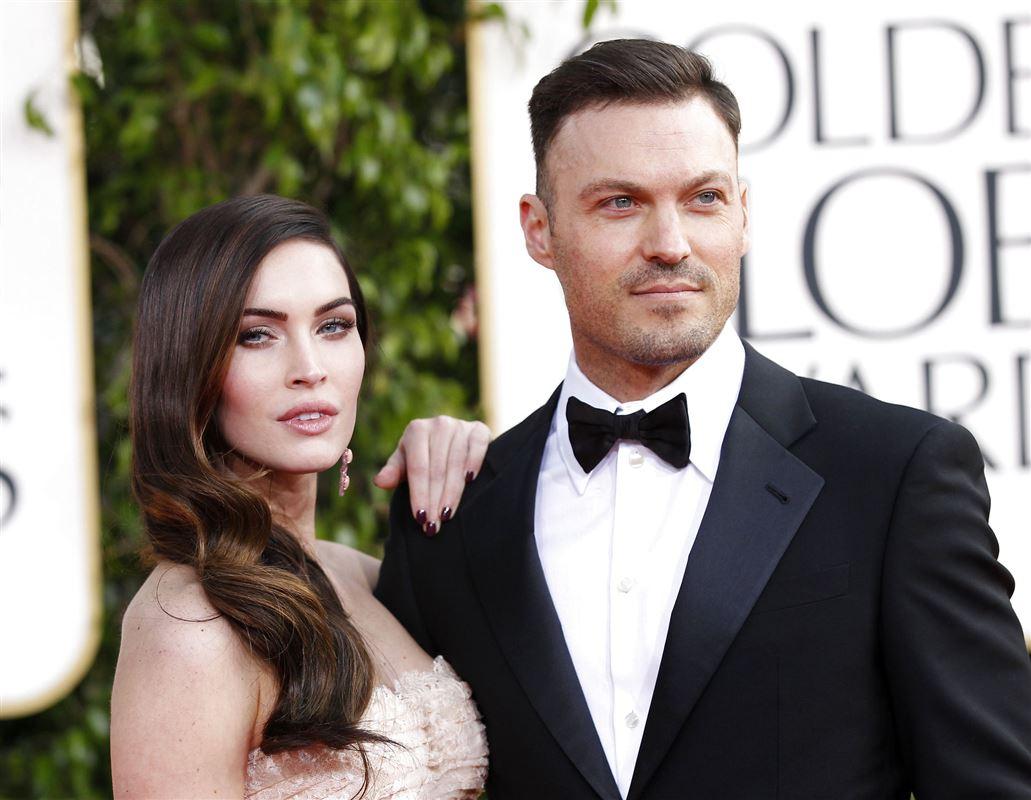 Megan Fox med armen på sin daværende mand, Brian Austin Greens, skulder ved en prisuddeling.