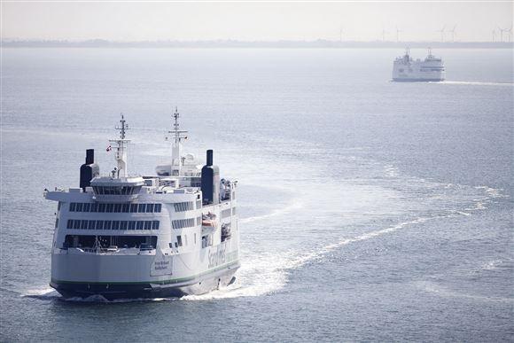 to færger i farvandet mellem Danmark og Tyskland
