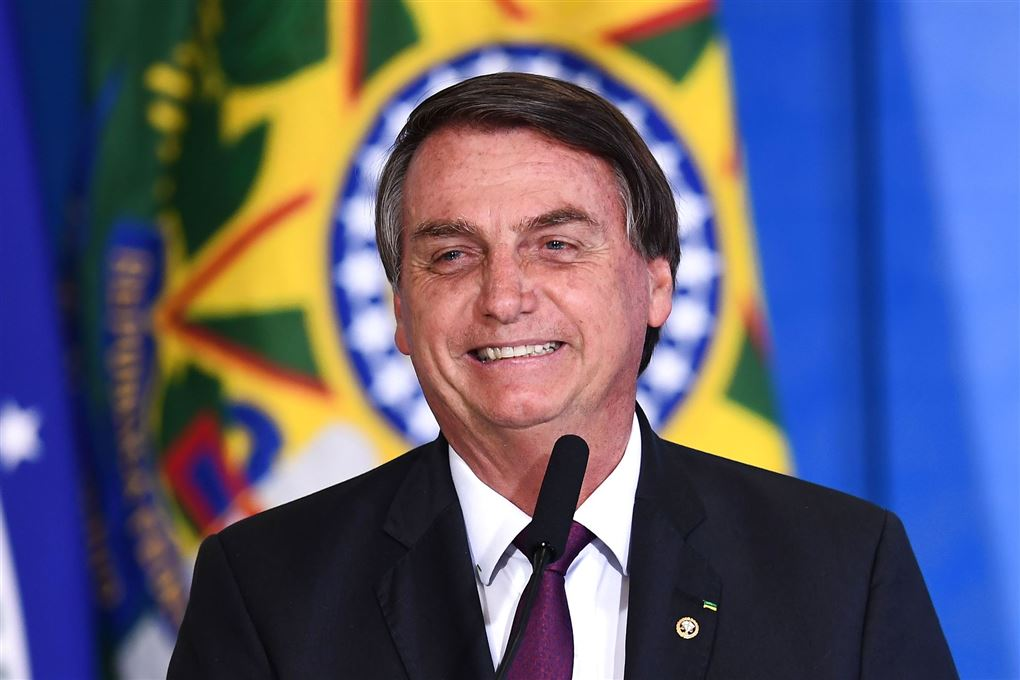 Brasiliens præsident jair bolsonaro smiler