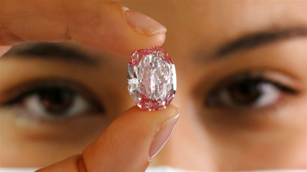 nærbillede af diamanten